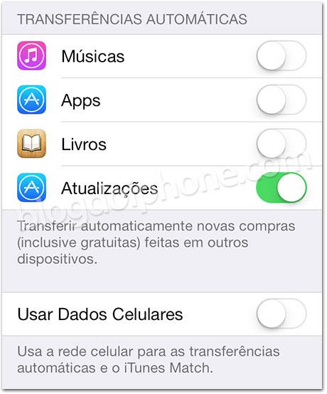 iOS 7 - Atualizações