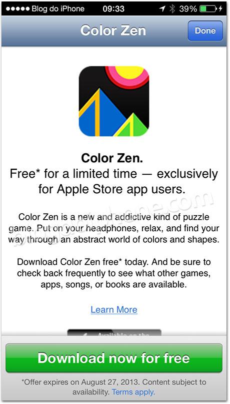 App grátis na Apple Store