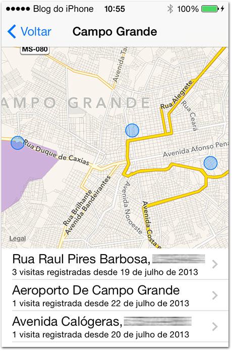 Photo of [aperitivo iOS 7] Sistema mostrará os locais frequentes por onde você costuma passar