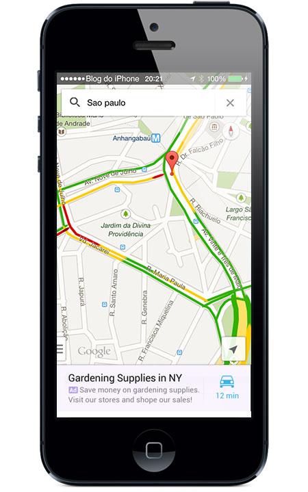 Publicidade no Google Maps