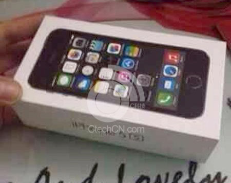 Suposta caixa do iPhone 5S