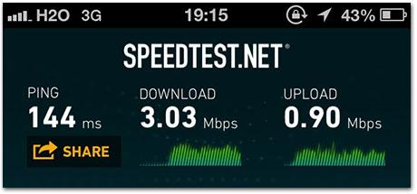 Velocidade da rede