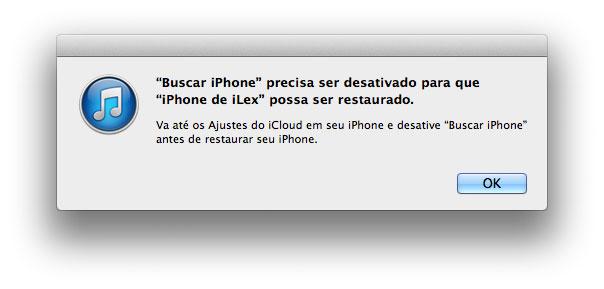 Desativando o Buscar Meu iPhone
