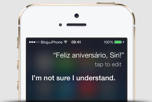 Siri aniversário