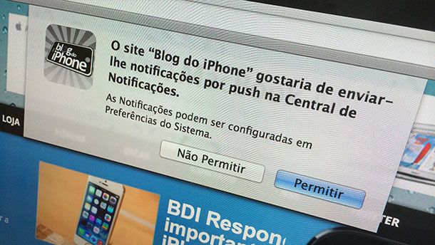 Photo of Blog do iPhone agora incorpora notificações push pelo Safari do Mac OS Mavericks