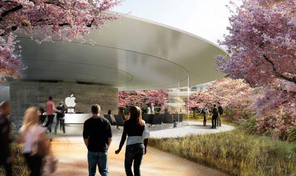 Photo of Imagens internas do futuro campus da Apple fazem ele parecer um shopping