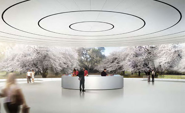 Interior do campus da Apple