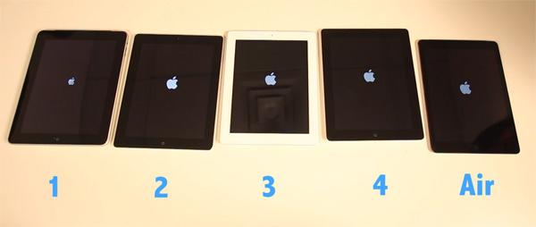 Comparação iPads
