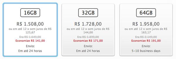 Preços na Apple