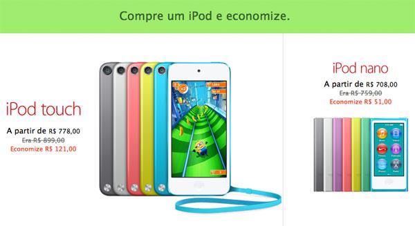iPods em promoção