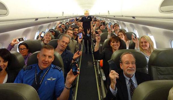 Dispositivos no avião