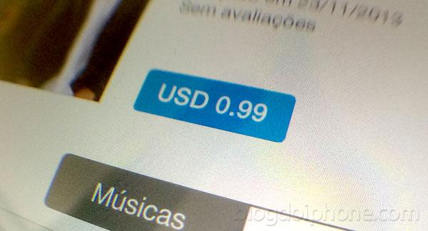 Preços em dólar