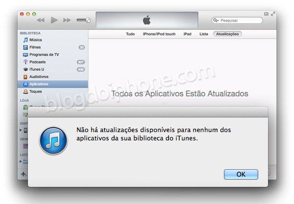 Bug no iTunes