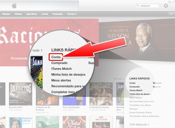 Conta iTunes Store