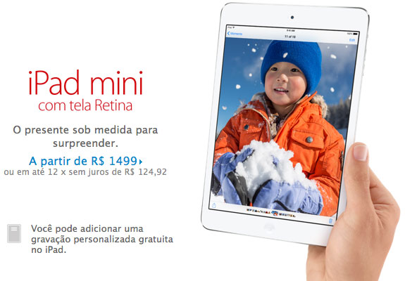 Photo of Apple Store Online começa a vender o iPad mini Retina
