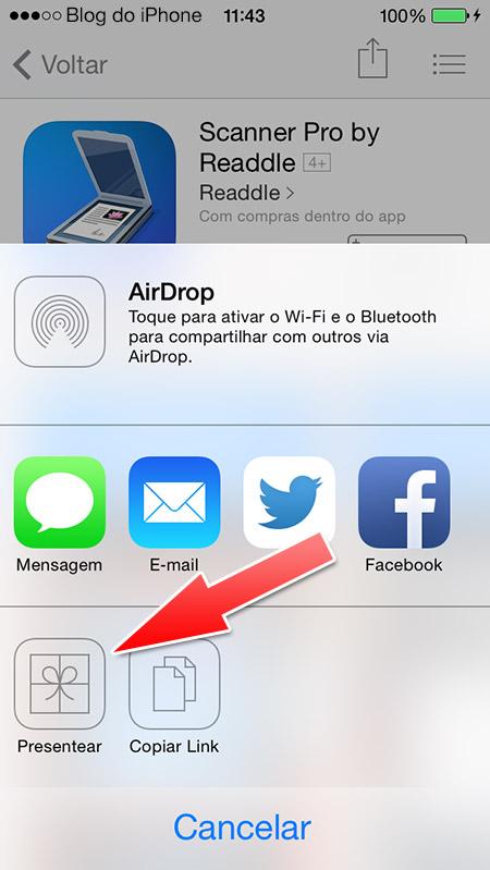 Presenteando um app