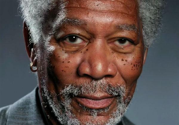 Morgan Freeman no iPad - Ilustração