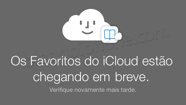 Favoritos pelo iCloud