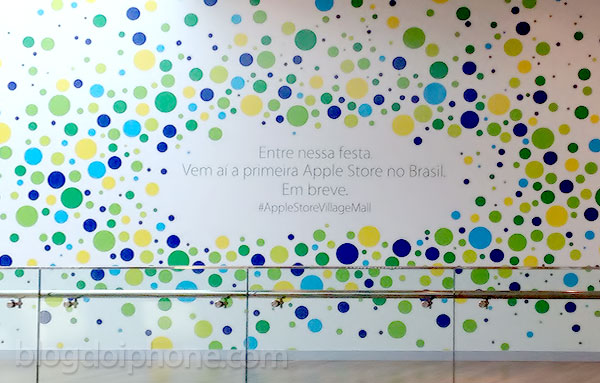 Tapume Apple Store Rio