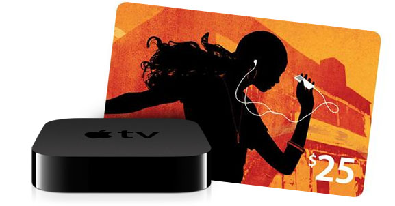 Apple TV + gift card