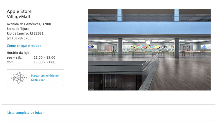 Site Retail da Apple