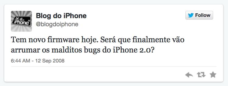 Primeiro tuite