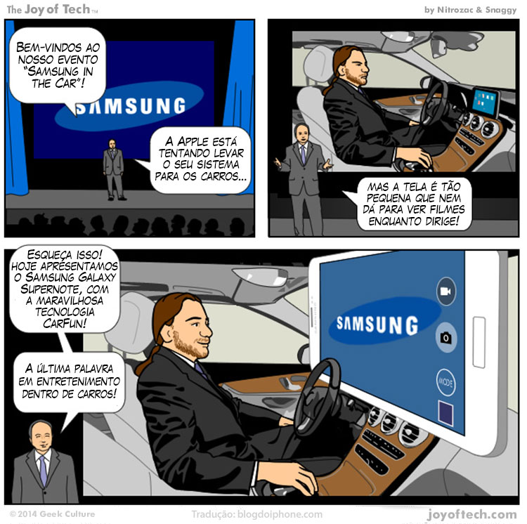 Photo of [humor] E se a Samsung imitasse o CarPlay…