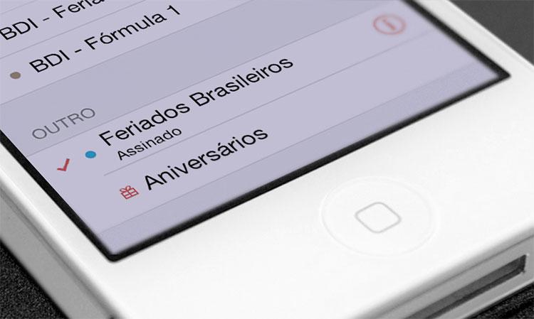 Feriados automáticos no iOS 7.1