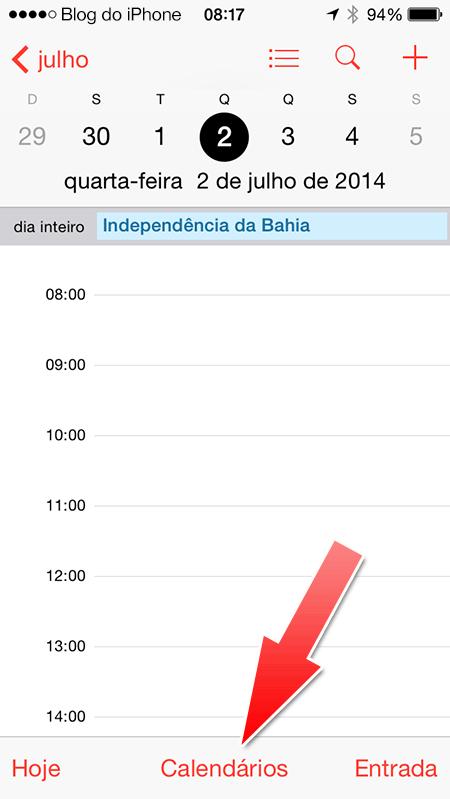 Feriados no iOS 7.1