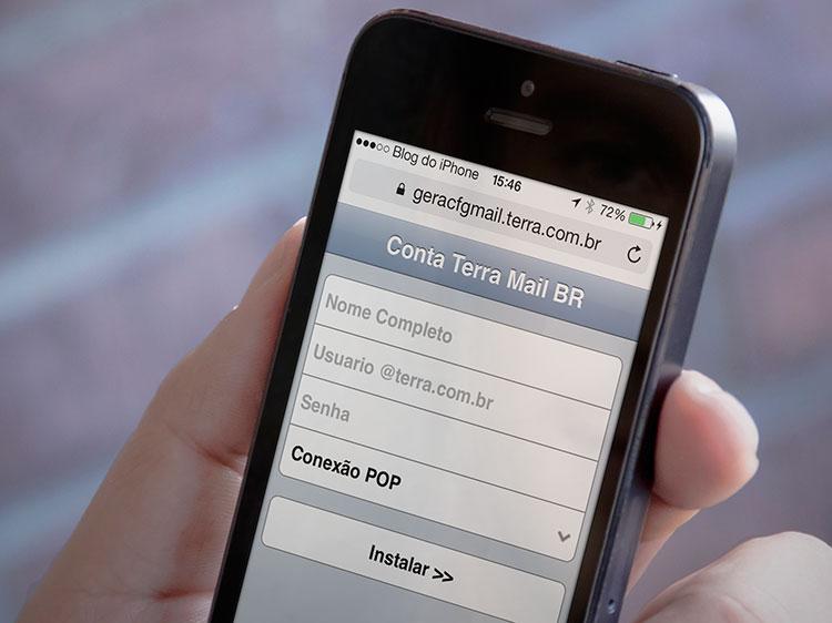 Como configurar automaticamente um email do Terra no iPhone ou no iPad