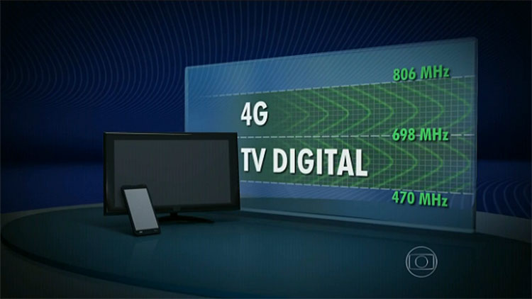 Faixas 4G e TV Digital