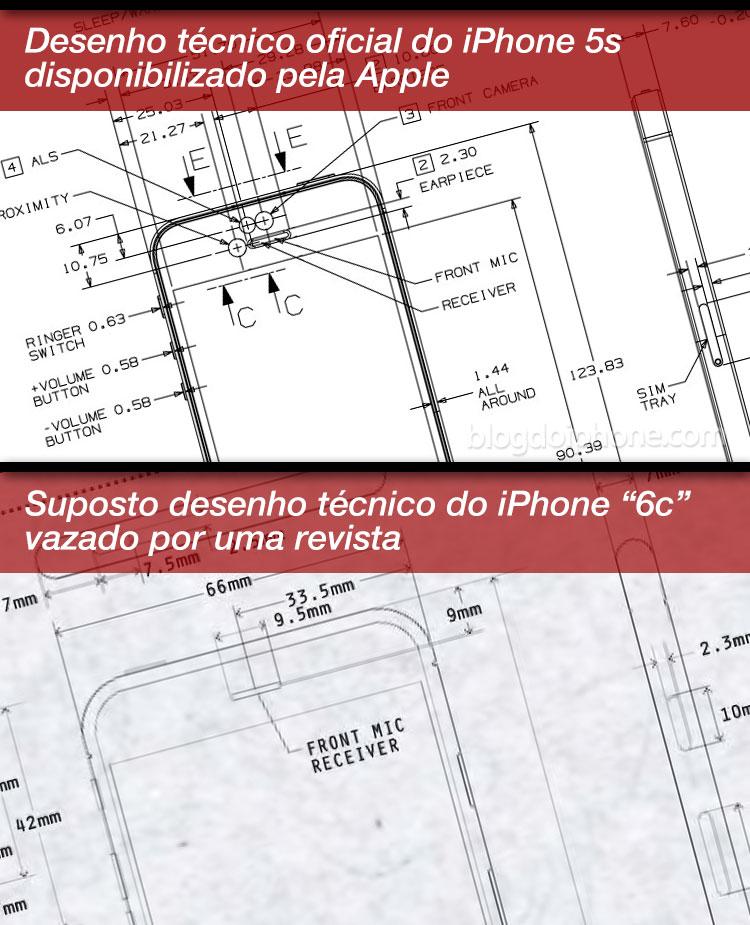 Desenhos técnicos: oficial e rumor