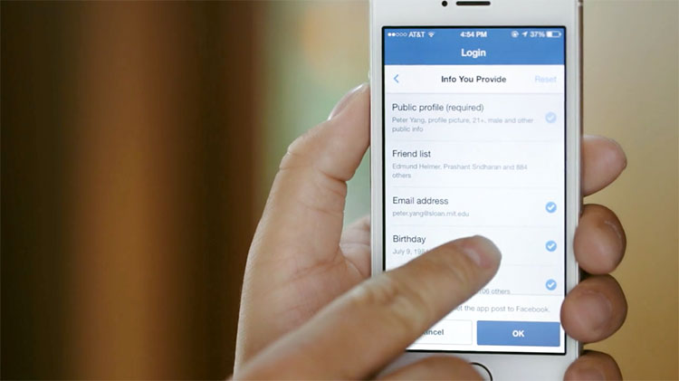 Login pelo Facebook