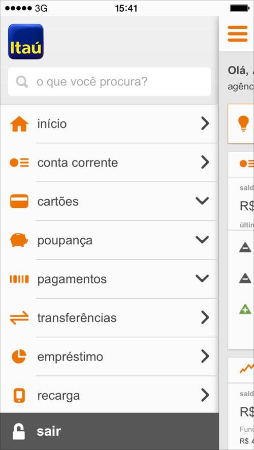 Novo aplicativo do Itaú