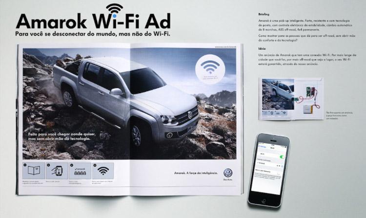Photo of Volkswagen veicula anúncio com roteador WiFi em revista