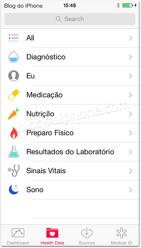 iOS 8 Saúde