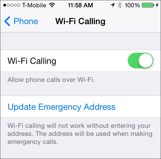 Ligações pelo Wi-Fi