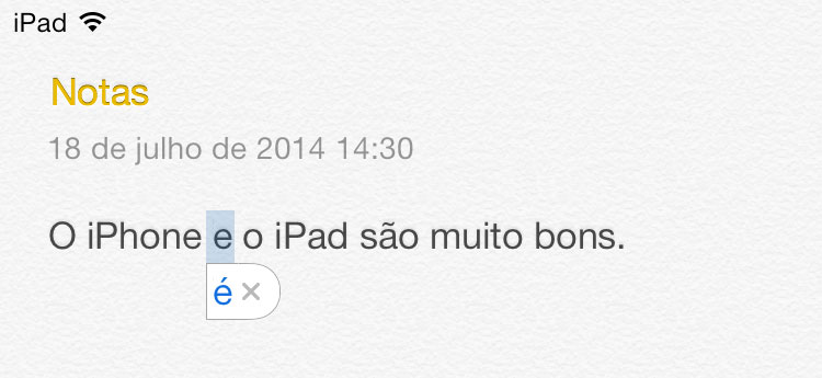 Autocorretor do iOS