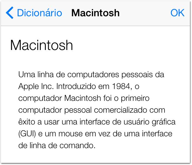 Dicionário Apple