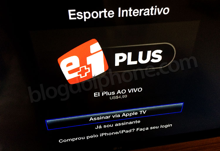 Assinatura pela Apple TV