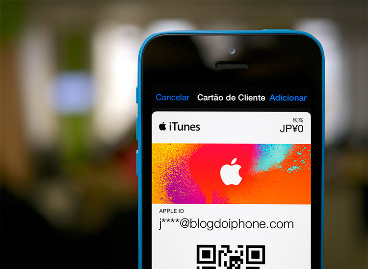 Giftcards no Passbook