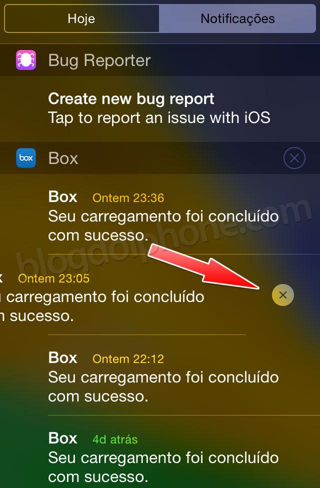 iOS 8 — Apagar notificações