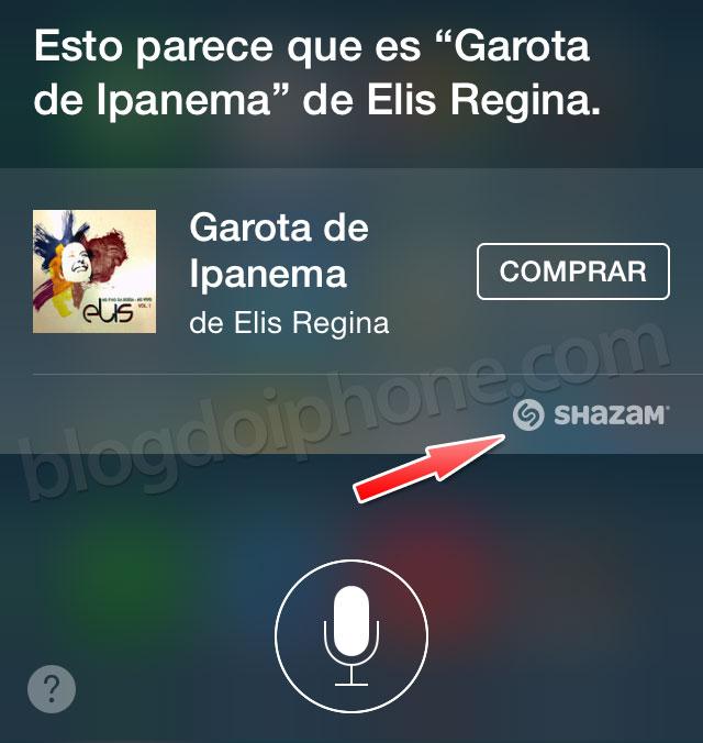 iOS 8 — Identificar canções