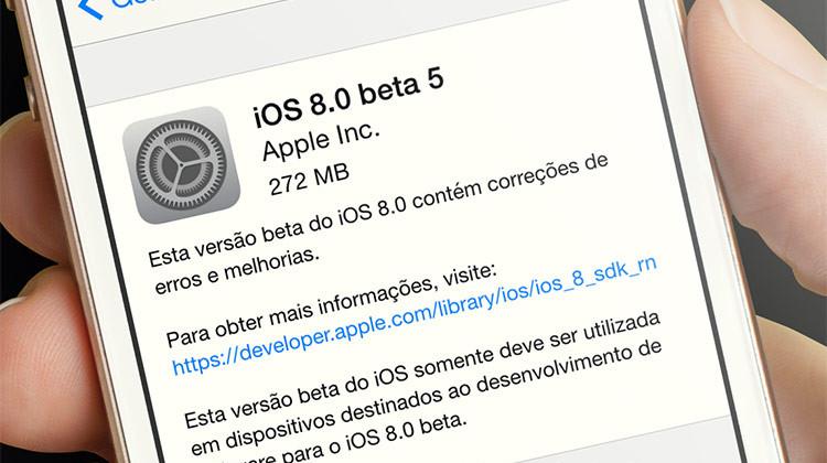 iOS 8 beta 5
