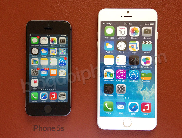 iPhone 5s vs 5.5