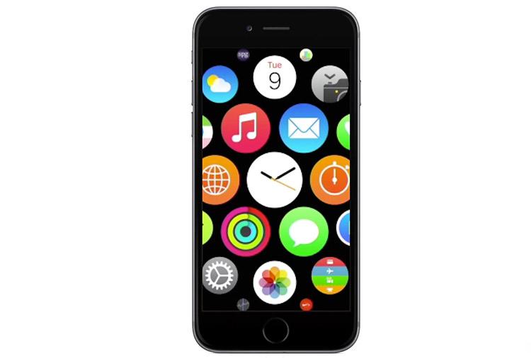Conceito mostra como seria o OS do Apple Watch no iPhone