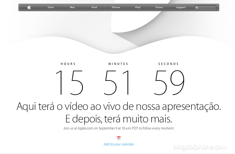 Site da Apple
