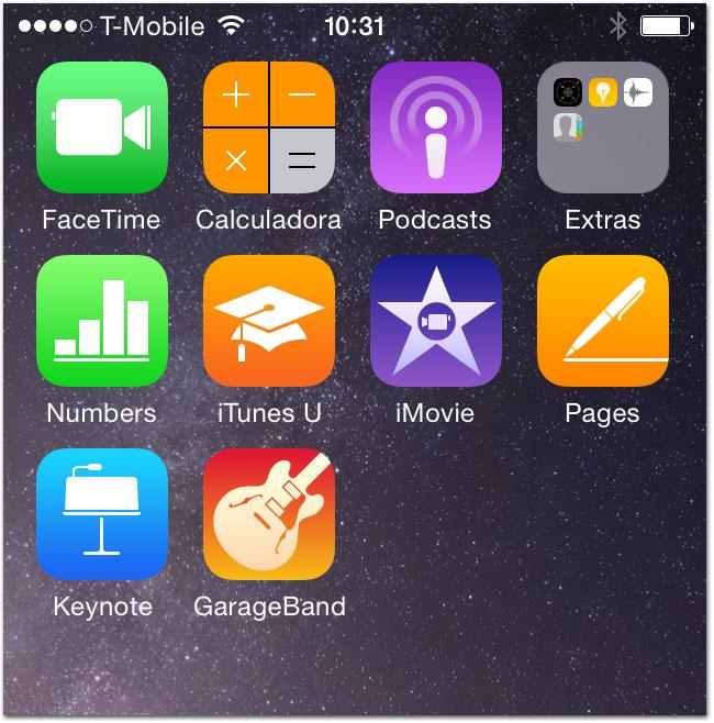 Apps pré-instalados