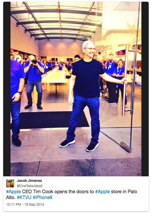 Tim Cook na loja de Palo Alto 02