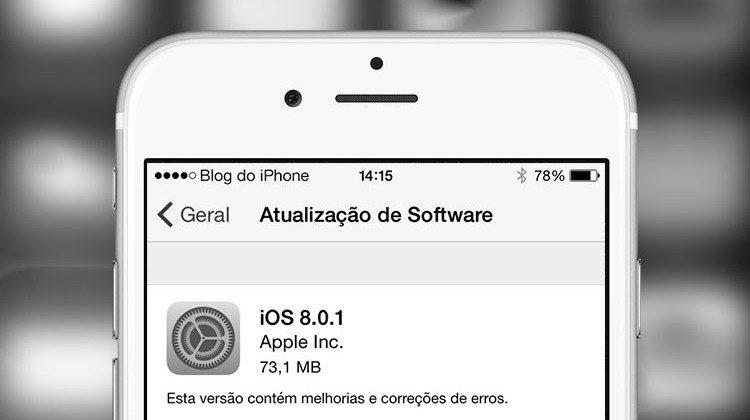 Falha no iOS 8.0.1